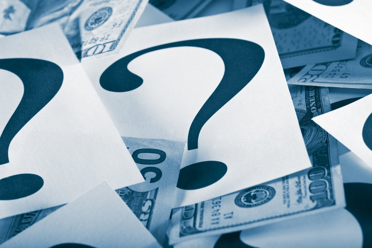 money and question marks