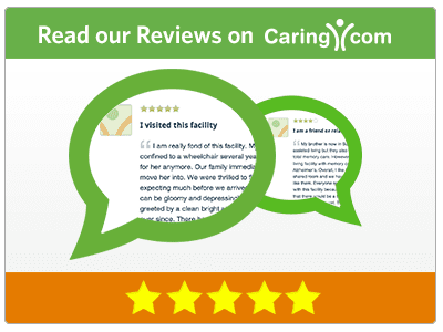 Read our reviews on caring.com badge