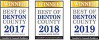 Best of Denton County Awards 2017 - 2019